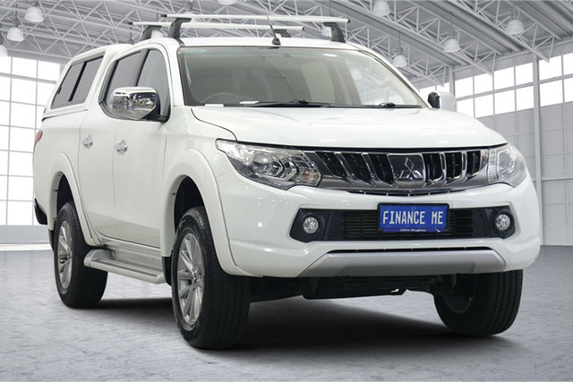 Used Mitsubishi Triton MQ MY17 GLS Double Cab Victoria Park, 2017 Mitsubishi Triton MQ MY17 GLS Double Cab White 5 Speed Sports Automatic Utility