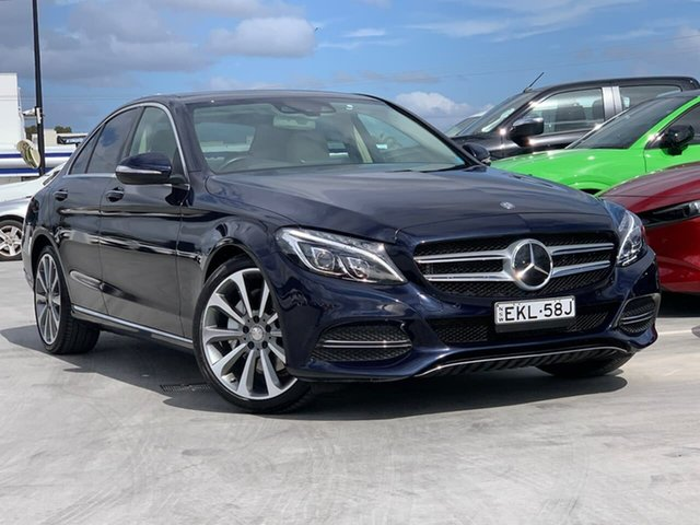 Used Mercedes-Benz C-Class W205 C250 7G-Tronic + Liverpool, 2015 Mercedes-Benz C-Class W205 C250 7G-Tronic + Blue 7 Speed Sports Automatic Sedan