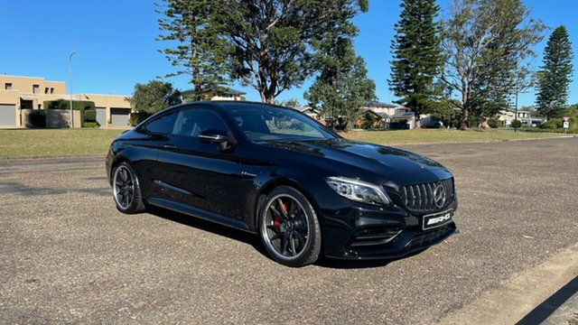 New Mercedes-Benz C-Class C205 801MY C63 AMG SPEEDSHIFT MCT S Port Macquarie, 2021 Mercedes-Benz C-Class C205 801MY C63 AMG SPEEDSHIFT MCT S Obsidian Black Metallic 9 Speed
