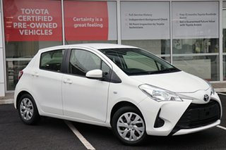 2017 Toyota Yaris NCP130R Ascent White 4 Speed Automatic Hatchback.