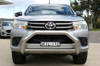 2017 Toyota Hilux GUN126R SR Extra Cab Silver 6 Speed Manual Cab Chassis