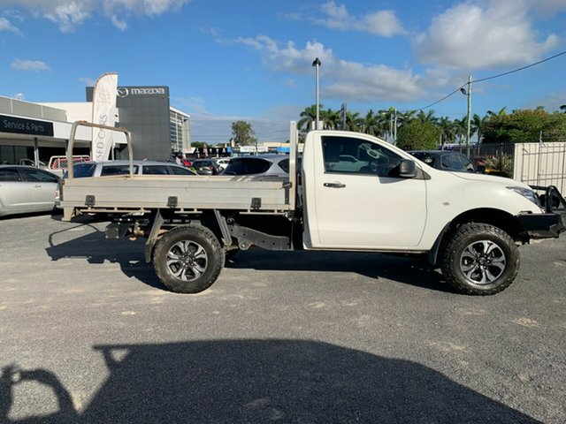 Used Mazda BT-50 UR0YG1 XT North Rockhampton, 2017 Mazda BT-50 UR0YG1 XT Cool White 6 Speed Manual Cab Chassis