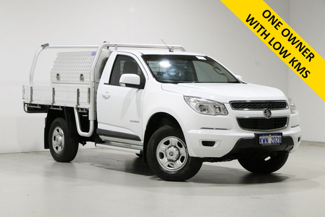 Used Holden Colorado RG MY16 LS (4x2) Bentley, 2015 Holden Colorado RG MY16 LS (4x2) White 6 Speed Manual Cab Chassis