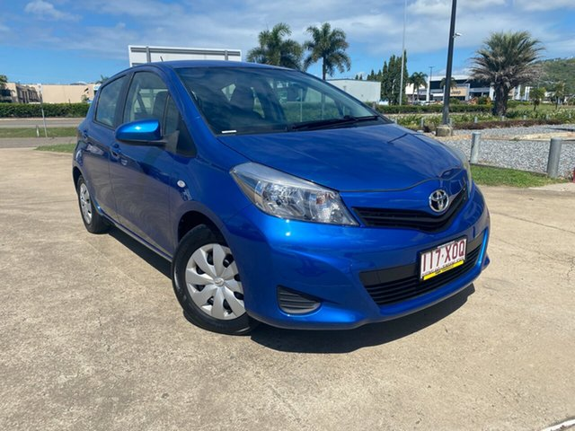 Used Toyota Yaris NCP130R YR Townsville, 2012 Toyota Yaris NCP130R YR Blue/171012 5 Speed Manual Hatchback