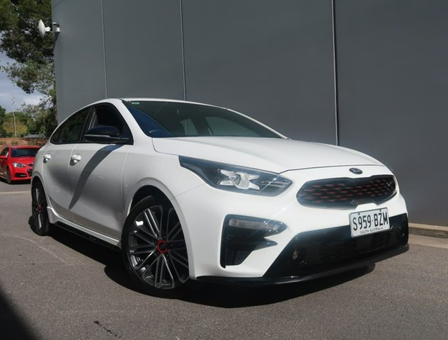 Used Kia Cerato BD MY19 GT DCT Reynella, 2019 Kia Cerato BD MY19 GT DCT White 7 Speed Sports Automatic Dual Clutch Hatchback