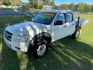 2008 Ford Ranger PJ XL Crew Cab 4x2 Hi-Rider White 5 Speed Manual Utility.