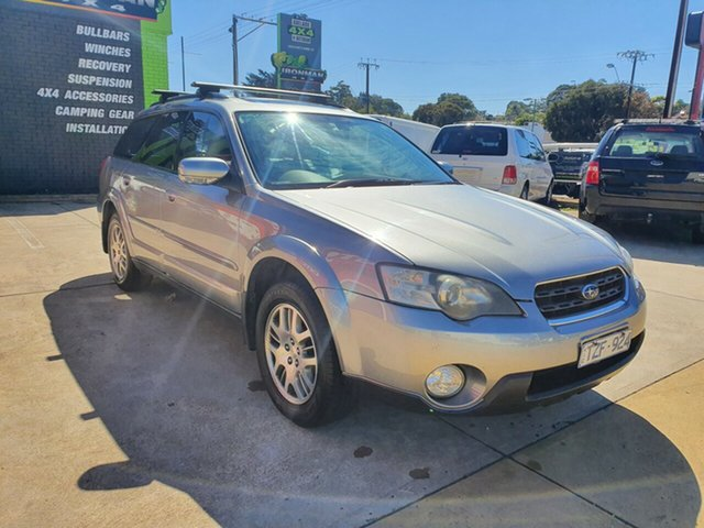Used Subaru Outback B4A MY06 Premium Pack D/Range AWD Morphett Vale, 2006 Subaru Outback B4A MY06 Premium Pack D/Range AWD Silver 5 Speed Manual Wagon