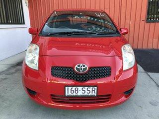2007 Toyota Yaris NCP90R YR Red 5 Speed Manual Hatchback.