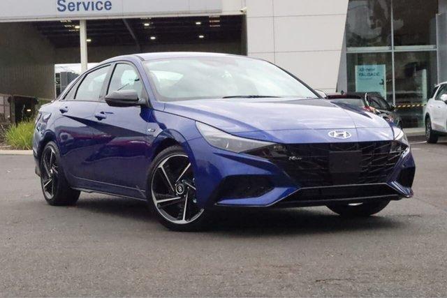 New Hyundai i30 CN7.V1 MY21 N Line D-CT South Melbourne, 2021 Hyundai i30 CN7.V1 MY21 N Line D-CT Intense Blue 7 Speed Sports Automatic Dual Clutch Sedan
