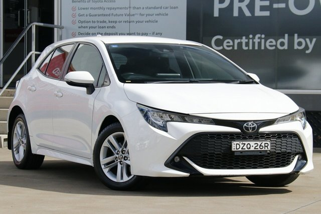 Pre-Owned Toyota Corolla Mzea12R SX Guildford, 2018 Toyota Corolla Mzea12R SX Glacier White 10 Speed Constant Variable Hatchback