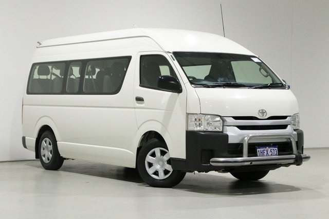 Used Toyota HiAce KDH223R MY16 Commuter Bentley, 2017 Toyota HiAce KDH223R MY16 Commuter White 4 Speed Automatic Bus