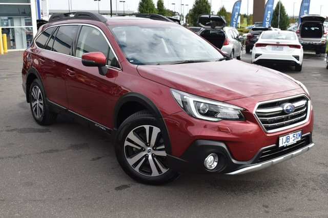 Used Subaru Outback B6A MY18 2.0D CVT AWD Premium Essendon Fields, 2018 Subaru Outback B6A MY18 2.0D CVT AWD Premium Red 7 Speed Constant Variable Wagon