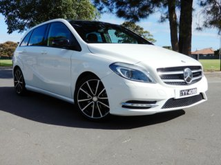 2014 Mercedes-Benz B-Class W246 B200 DCT White 7 Speed Sports Automatic Dual Clutch Hatchback.