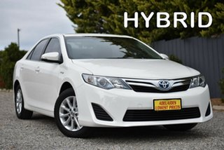2012 Toyota Camry AVV50R Hybrid H White 1 Speed Constant Variable Sedan Hybrid.