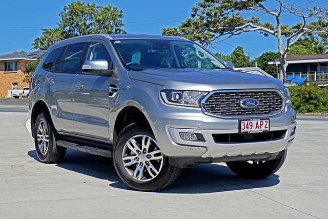 Used Ford Everest UA II 2021.25MY Trend Capalaba, 2020 Ford Everest UA II 2021.25MY Trend Aluminium Silver 10 Speed Sports Automatic SUV