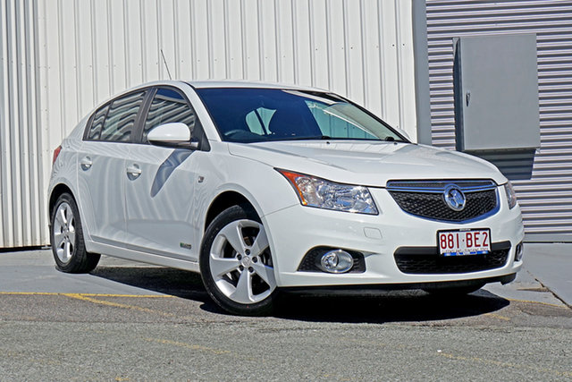 Used Holden Cruze JH Series II MY13 CD Springwood, 2013 Holden Cruze JH Series II MY13 CD White 6 Speed Sports Automatic Hatchback