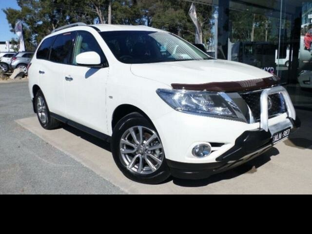 Pre-Owned Nissan Pathfinder R52 MY15 ST (4x2) Wangaratta, 2016 Nissan Pathfinder R52 MY15 ST (4x2) White Continuous Variable Wagon