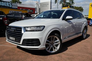 2016 Audi Q7 4M 3.0 TDI Quattro White 8 Speed Automatic Tiptronic Wagon.