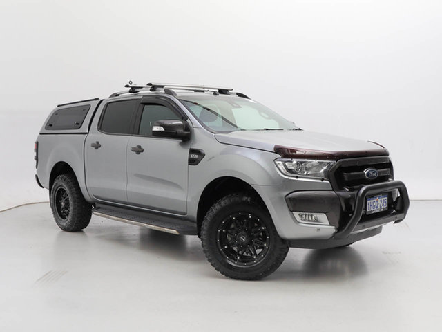 Used Ford Ranger PX MkII MY17 Wildtrak 3.2 (4x4), 2016 Ford Ranger PX MkII MY17 Wildtrak 3.2 (4x4) Silver 6 Speed Manual Dual Cab Pick-up