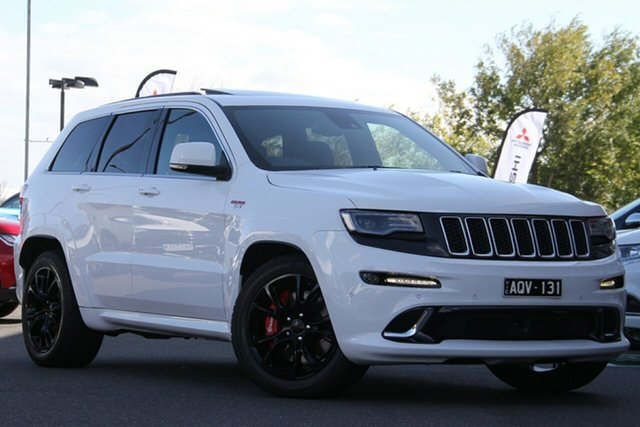Used Jeep Grand Cherokee WK MY15 SRT Essendon Fields, 2015 Jeep Grand Cherokee WK MY15 SRT White 8 Speed Sports Automatic Wagon