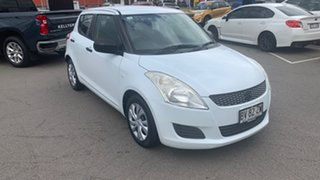 2013 Suzuki Swift FZ GA White 4 Speed Automatic Hatchback.