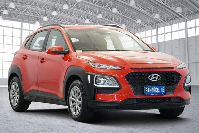 Used Hyundai Kona OS.2 MY19 Go 2WD Victoria Park, 2019 Hyundai Kona OS.2 MY19 Go 2WD Tangerine Comet 6 Speed Sports Automatic Wagon