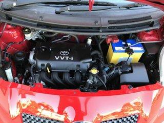 2007 Toyota Yaris NCP90R YR Red 5 Speed Manual Hatchback