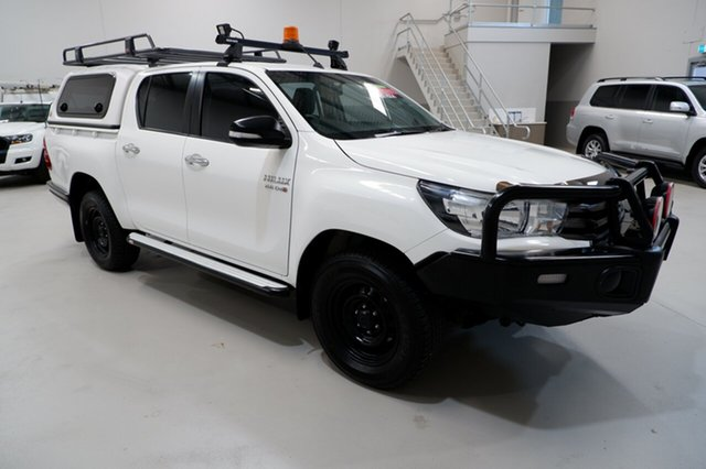Used Toyota Hilux GUN126R SR Double Cab Kenwick, 2016 Toyota Hilux GUN126R SR Double Cab White 6 Speed Sports Automatic Utility