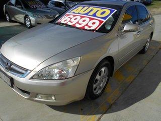 2005 Honda Accord 7th Gen V6 Luxury Gold 5 Speed Automatic Sedan.