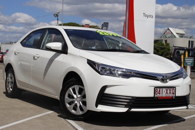 Pre-Owned Toyota Corolla ZRE172R Ascent S-CVT Albion, 2018 Toyota Corolla ZRE172R Ascent S-CVT Glacier White 7 Speed Constant Variable Sedan