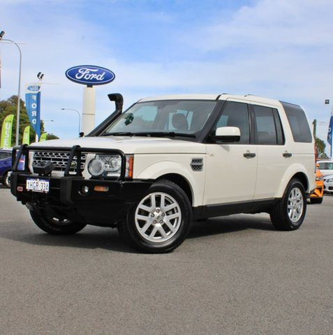 Used Land Rover Discovery 4 Series 4 10MY TdV6 CommandShift Midland, 2010 Land Rover Discovery 4 Series 4 10MY TdV6 CommandShift White 6 Speed Sports Automatic Wagon