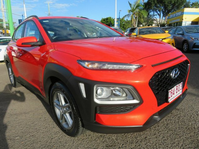 Used Hyundai Kona OS.2 MY19 Active 2WD Mount Gravatt, 2019 Hyundai Kona OS.2 MY19 Active 2WD Orange 6 Speed Sports Automatic Wagon