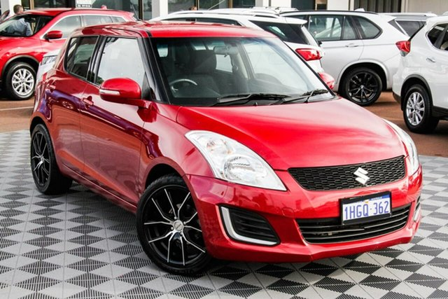 Used Suzuki Swift FZ MY15 GL Attadale, 2016 Suzuki Swift FZ MY15 GL Red 4 Speed Automatic Hatchback