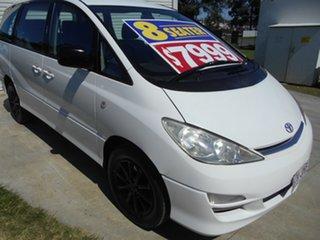 2004 Toyota Tarago ACR30R MY03 GLi White 4 Speed Automatic Wagon.