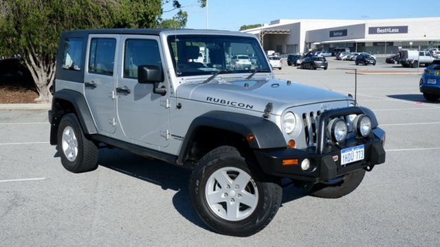 Used Jeep Wrangler JK MY2008 Unlimited Rubicon Maddington, 2008 Jeep Wrangler JK MY2008 Unlimited Rubicon Silver 6 Speed Manual Softtop