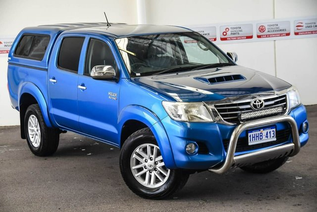 Pre-Owned Toyota Hilux KUN26R MY12 SR5 (4x4) Myaree, 2013 Toyota Hilux KUN26R MY12 SR5 (4x4) Tidal Blue 4 Speed Automatic Dual Cab Pick-up