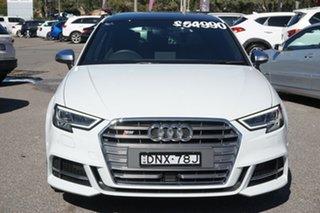 2017 Audi S3 8V MY17 Sportback S Tronic Quattro White 7 Speed Sports Automatic Dual Clutch Hatchback.
