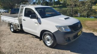2015 Toyota Hilux KUN16R Workmate White Manual Cab Chassis.