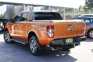 2017 Ford Ranger PX MkII 2018.00MY Wildtrak Double Cab Orange 6 Speed Sports Automatic Utility.