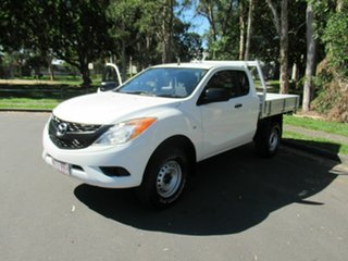 2014 Mazda BT-50 UP0YF1 XT Freestyle 4x2 Hi-Rider White 6 Speed Sports Automatic Cab Chassis