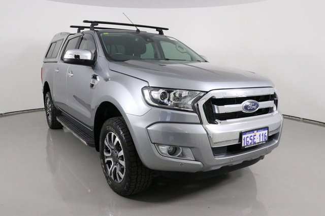 Used Ford Ranger PX MkII XLT 3.2 (4x4) Bentley, 2016 Ford Ranger PX MkII XLT 3.2 (4x4) Silver 6 Speed Automatic Double Cab Pick Up