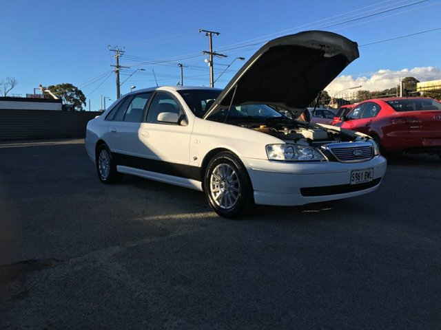 Used Ford Fairlane BA Ghia Blair Athol, 2003 Ford Fairlane BA Ghia White 4 Speed Sports Automatic Sedan