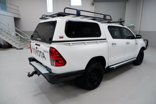 2016 Toyota Hilux GUN126R SR Double Cab White 6 Speed Sports Automatic Utility