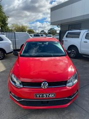 2016 Volkswagen Polo 6R MY16 81TSI DSG Comfortline Red 7 Speed Sports Automatic Dual Clutch.