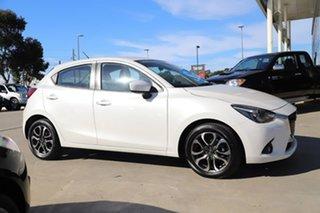 2015 Mazda 2 DJ2HAA Genki SKYACTIV-Drive Snowflake White 6 Speed Sports Automatic Hatchback.