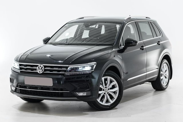 Used Volkswagen Tiguan 5N MY18 162TSI DSG 4MOTION Highline Berwick, 2018 Volkswagen Tiguan 5N MY18 162TSI DSG 4MOTION Highline Black 7 Speed