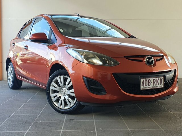 Used Mazda 2 DE10Y1 Neo Brendale, 2010 Mazda 2 DE10Y1 Neo Orange 5 Speed Manual Hatchback