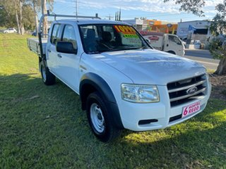 2008 Ford Ranger PJ XL Crew Cab 4x2 Hi-Rider White 5 Speed Manual Utility
