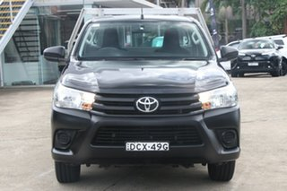 2016 Toyota Hilux TGN121R Workmate Eclipse Black 6 Speed Automatic Cab Chassis