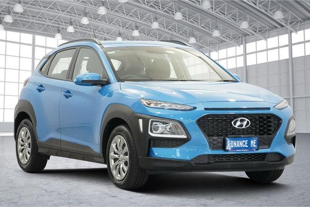 Used Hyundai Kona OS.2 MY19 Go 2WD Victoria Park, 2019 Hyundai Kona OS.2 MY19 Go 2WD Blue Lagoon 6 Speed Sports Automatic Wagon
